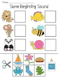 Beginning Sounds Cut And Paste Worksheets Free - Worksheets for ...Beginning Sounds Cut And Paste Worksheets Kids Match The Two Words With Same