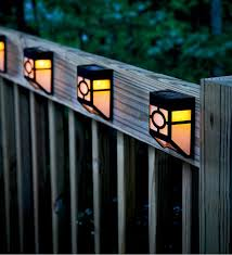 mission style solar deck accent lights set of 4 plow hearth blog 3 deck accent lighting
