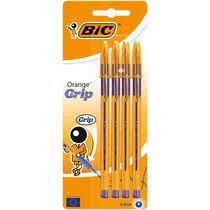 <b>Ручка шариковая BIC</b> Orange Grip синяя 4 шт купить с доставкой ...