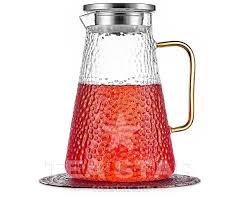 """<b>Заварочный чайник</b> кувшин """"Атлант"""" стеклянный с желтой ..."""