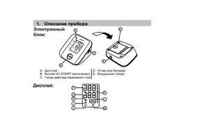 <b>Тонометры OMRON</b>, инструкции по эксплуатации прибора