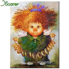 YOGOTOP Full Diamond Embroidery <b>Cartoon angel</b> Decor <b>DIY</b> ...