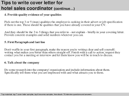 tips to write cover letter for hotel sales coordinator tips to write cover letter for hotel sales coordinator sales coordinator cover letter