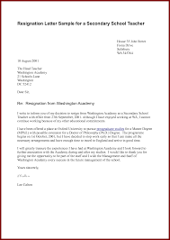 resignation letter in school one month notice sendletters info resignation letter sample for a secondary school teacher by docbase