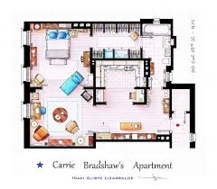 Incredibly Detailed Floor Plans Of The Most Famous TV Show HomesSex and the City