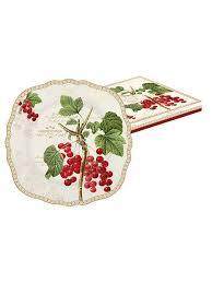 """<b>Тарелка десертная 20см</b> """"Красная смородина"""" в подарочной ..."""