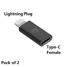 USB Type C Female to <b>Lightning Male</b> Adapter, Type C Cable with ...