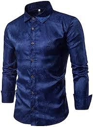 EgoLanding <b>Men's Fashion Printed</b> Brocade Cotton <b>Casual</b> Long ...