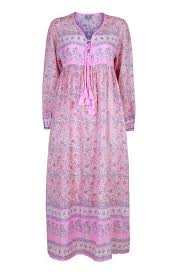 <b>Pink Boho</b> print maxi <b>dress</b>   Ethical summer collection   Dilli Grey