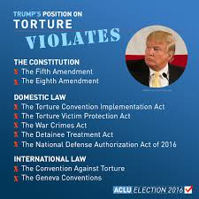 Image result for donald trump calls for torture