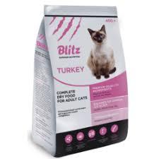 Отзывы о <b>Корм Blitz</b> Adult Cat с мясом индейки