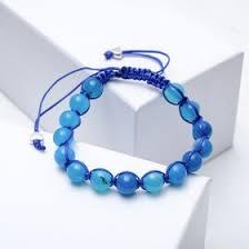 """<b>Браслет</b> шамбала шар №<b>8</b> """"<b>Агат голубой</b>"""" (4197231) - Купить по ..."""