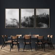 Set of three misty forest <b>wall art</b>, Set of 3 misty forest printable art, 3 ...