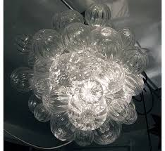 small glass bubble chandelier with clear handblown bubbles bubble hand blown glass