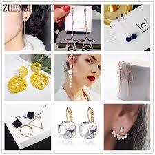 <b>New</b> Vintage Gold Color <b>Metal</b> Earrings <b>2019 Elegant</b> Women ...