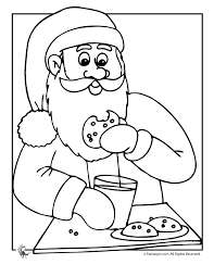 Small Picture Santa and Christmas Cookies Coloring Page Woo Jr Kids Activities