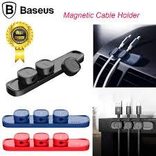 100% Original <b>BASEUS Peas Cable Clip</b> Magnetic USB Cord ...