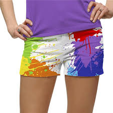 Loudmouth Golf <b>Womens Mini</b> Shorts - <b>Drop</b> Cloth   Golf outfit ...
