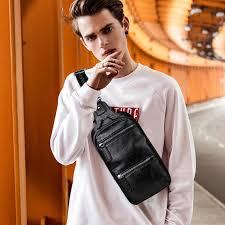 <b>LIELANG</b> Men's <b>bag</b> cheat <b>bag Leather Chest Pack</b> Messenger <b>bag</b> ...