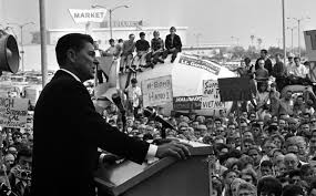 reagan s gubernatorial campaign turns california ronald reagan speaking to crowd during gubernatorial campaign stop in lakewood calif 1966