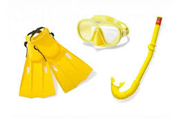 <b>Комплект для плавания</b>: маска, трубка, ласты <b>INTEX</b> 55655 ...
