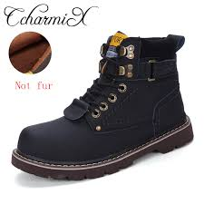 New@@ CcharmiX <b>Men</b> Work Boots Leather Unisex Ankle Snow ...