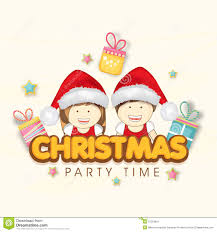 invitation card design christmas party holiday party invitations merry christmas party celebrations concept gift boxes and kids in