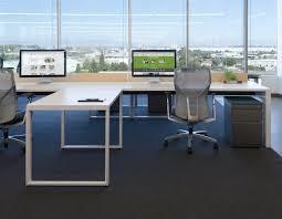 bright open concept office natural light bright office room interior
