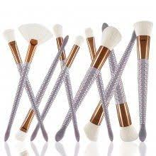 eyebrow brush luxury golden double ended angled bamboo handle make up tools for up professional eyesbrow