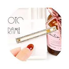 Korean Ins Fashion Gold Silver Crystal Geometric ... - Amazon.com
