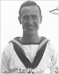 Thomas Charles Wright. Photo of Leading Seaman Thomas Charles Wright, courtesy of his widow, Winifred Hawkins,. Service: Royal Navy Rank: RANK - WrightTC