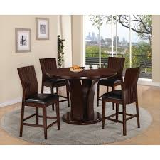 4 chair kitchen table: contempo counter dining table and  espresso seat dining chairs espresso  dining room furniture conns