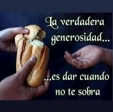 Resultado de imagen de imagenes de la generosidad