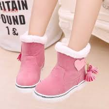<b>SLYXSH</b> Fringe Girls Boots Fur Thick Warm <b>Children's</b> Shoes New ...