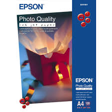 <b>Epson</b> A4 102 gsm <b>Photo Quality</b> Paper for Inkjet Machines, White ...