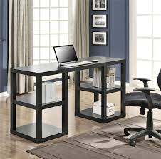 ameriwood furniture parsons deluxe desk black oak black home office laptop desk furniture