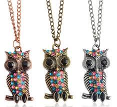 New Arrive <b>Cute Lovely</b> Antique <b>Owl Bird</b> Pendants & Necklaces ...