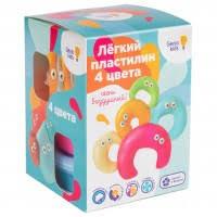 <b>Набор</b> легкого <b>пластилина</b> для детской лепки из 4 цветов <b>Genio</b> ...