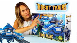 Роботы поезда Станция Кея <b>Silverlit</b> 80170 - YouTube