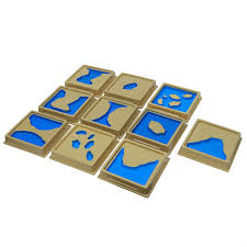 10Pcs <b>Baby Toy Montessori Materials</b> Geography Mould Land and ...