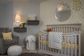 fabulous wallpaper brings yellow to the gray nursery in style design samantha culbreath baby nursery yellow grey gender neutral