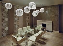 inspiring unique hanging lights with multiple ball pendant lamp combined white accent color amazing hanging dining room
