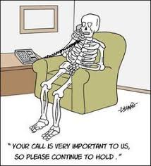 Image result for waiting skeleton on phone