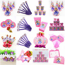 Sofia <b>Princess Theme Party Supplies</b> Set Theme Kid Birthday Party ...