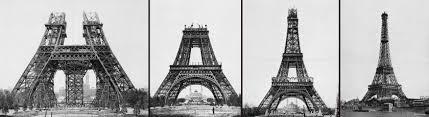 Resultado de imagem para inicio da construção da torre eiffel