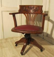 victorian art nouveau carved oak desk or office chair 246019 art deco mahogany framed office chair