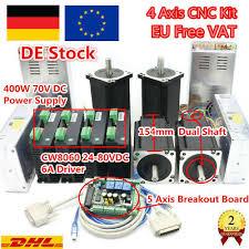 【DE】 4 Achse <b>NEMA 34</b> Schrittmotor <b>1600oz</b>+CW8060 6A 80V ...