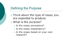 guidelines for writing a basic essay a step by step guide through    defining the purpose  think about the type of essay you are expected to produce 