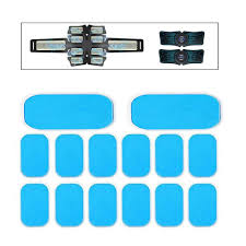 14Pcs Gel Pads for EMS Abdominal <b>ABS Trainer Muscle Stimulator</b> ...