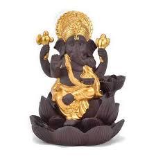 New <b>Creative</b> Lotus Ganpati Ganesha Smoke <b>Backflow Incense</b> ...